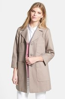 T Tahari 'Acacia' Piqué Walking Coat
