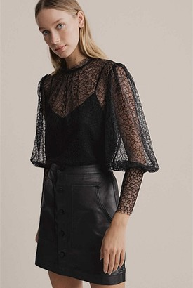Witchery Lace High Neck Blouse