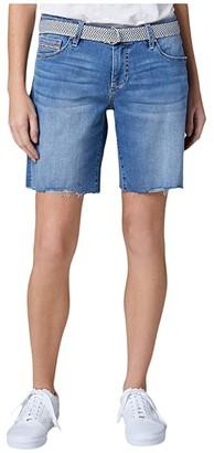 Jag Jeans Demi Belted Denim Boyfriend Shorts (Mission) Women's Shorts