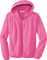 Port Authority - Ladies Hooded Essential Lightweight Windbreaker Jacket. L305