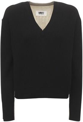 MM6 MAISON MARGIELA V Neck Jersey Sweater