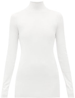 Bottega Veneta High-neck Jersey Sweater - Womens - White