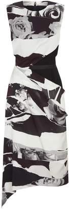 Alexander McQueen Torn Rose Silk Dress