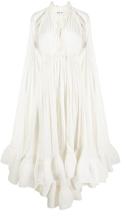 Lanvin Long-Sleeve Ruffle Gown
