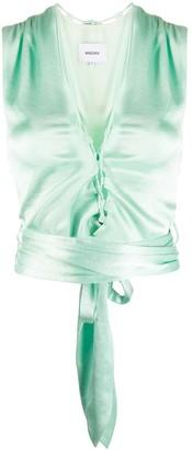 Nanushka Corsica tie waist top