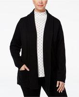 Karen Scott Plus Size Shawl-Collar Cardigan, Only at Macy's