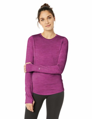 Core 10 Amazon Brand Women's Plus Size Be Warm Brushed Thermal Fitted Long Sleeve