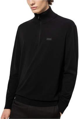 HUGO Boss Men San Giuseppe Half-Zip Sweater
