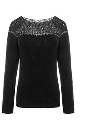 You By Tokarska Sweater With Silver Thread Black