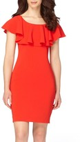Tahari Petite Women's Ruffle Body-Con Dress