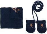 Tartine et Chocolat scarf and mittens set - kids - Cashmere/Wool - One Size