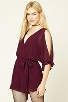 Forever 21 FOREVER 21+ Ruffled Open-Shoulder Romper