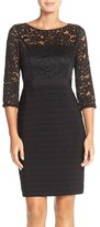 Adrianna Papell Lace & Jersey Sheath Dress (Regular & Petite)