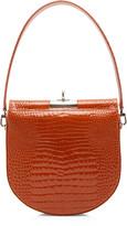 Gu De gu de Demi Lune Small Croc-Effect Leather Bag