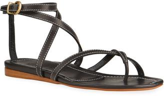 Marion Parke Harvey Calfskin Flat Gladiator Sandals