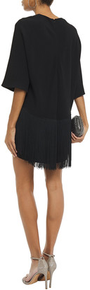 Stella McCartney Fringed Layered Crepe Mini Dress