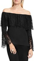 Vince Camuto Lace Trim Off the Shoulder Blouse