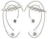 Charlotte Russe Embellished Ear Cuffs & Stud Earrings Set