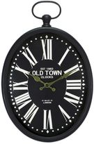 Bed Bath & Beyond Oval Wall Clock in Black