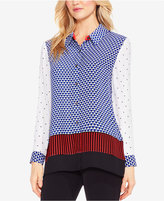 Vince Camuto Mixed-Print Shirt