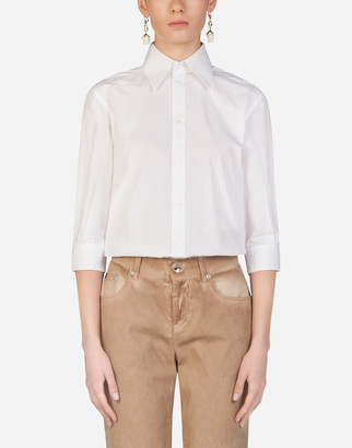 Dolce & Gabbana Poplin Shirt With Mother-Of-Pearl Buttons