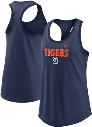 Nike Women's Navy Detroit Tigers Let's Go Racerback Performance Tank Top
