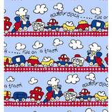 Graco SheetWorld Fitted Pack N Play Sheet - Fun Train Tracks - Made In USA - 27 inches x 39 inches (68.6 cm x 99.1 cm)