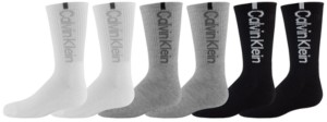 Calvin Klein Big Boys Crew Length Performance 3 Pair of Sport Socks