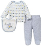 Little Me Infant Boys' Raccoon Geo Print Three Piece Set - Sizes 0-9 Months