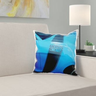The Great East Urban Home Boss 302 Mustang at Car Show in Florida Pillow Cover East Urban Home