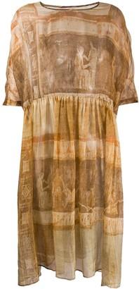 UMA WANG Draped Silk Dress