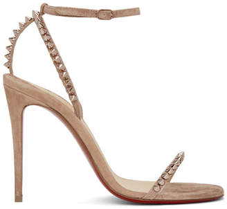 Christian Louboutin Pink So Me 100 Sandals