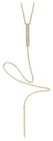 Ef Collection Diamond Bar Lariat Necklace