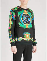 Versace Floral Cotton-jersey Sweatshirt