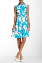 Sandra Darren Sleeveless Printed Shirt Dress