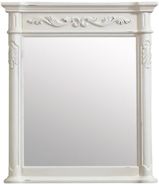"Avanity Provence 30"" Mirror, Antique White Finish"