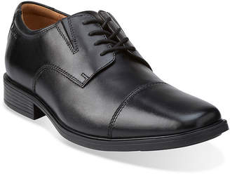 Clarks Tilden Mens Leather Cap-Toe Dress Shoes