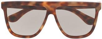 Gucci tortoiseshell-effect square tinted sunglasses