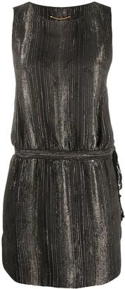 Saint Laurent Striped Mini Dress