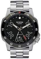 Nixon A941000 Men's Ranger GMT Black Dial Stainless Steel Bracelet Watch