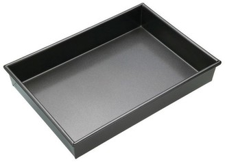 MasterPro Non-Stick Steel Rectangular Deep Cake Pan 35 x 24cm Black