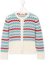 Marni striped knitted cardigan