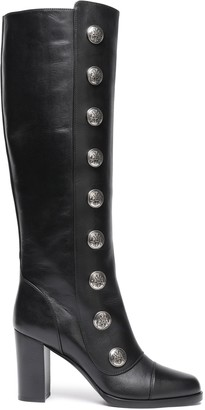 Michael Kors Button-embellished Leather Boots