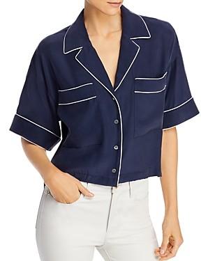 Frame Silk Piped Shirt