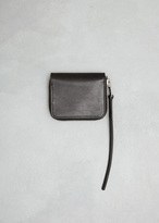 Rick Owens Black Zipped Credit Card Holder