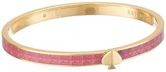 Kate Spade Heritage Spade Textured Thin Bangle (Pink) Bracelet