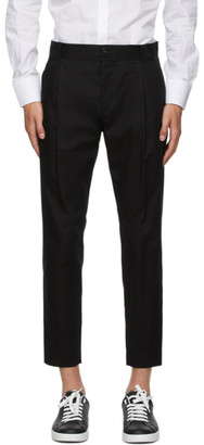 Dolce & Gabbana Black Gabardine Trousers