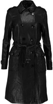 J Brand Amely Leather Trench Coat