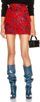 Andamane ANDAMANE Bertha Mini Skirt in Red & Blue Leopard | FWRD