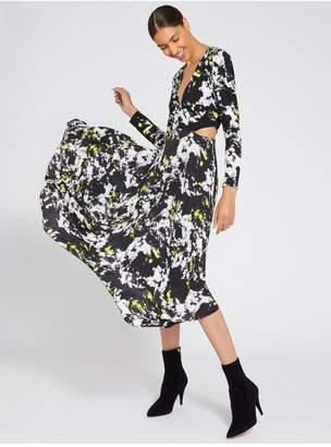 Alice + Olivia Temika Handkerchief Midi Dress